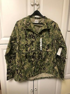 NEW With Tags NWU US NAVY Type III AOR Combat Shirt Long  (XL-R)