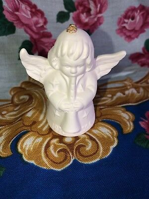 2006 Goebel ANGEL BELL ORNAMENT White Bisque with Horn 1976 - 2006 RARE