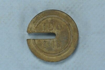 Antique COUNTRY STORE or FARM SCALE WEIGHT NO 100 WEIGHS 1 LB OLD #06456
