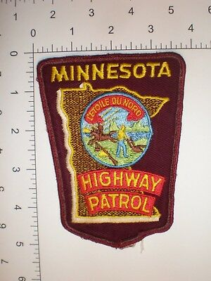 MN Minnesota HIGHWAY PATROL State Trooper police cheese cloth vintage patch