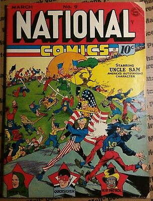 National Comics 9  1941 Quality, absolutely gorgeous!! Crandall / Lou Fine art!