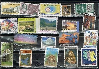 (12-427) 15+ Assorted  Cancelled  Postage sTamps from New Zealand