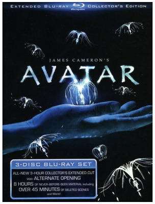 Avatar (Blu-ray Disc, 2010, 3-Disc Set, Extended Collectors Edition w DigiBook)