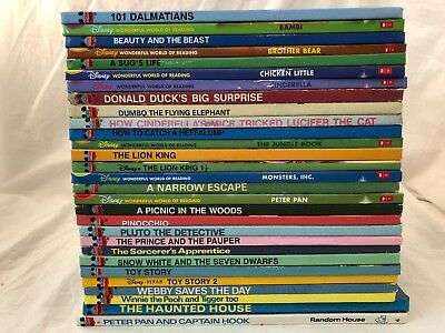 Disney Wonderful World of Reading Book Lot 29 Children Hardcover Picture Books