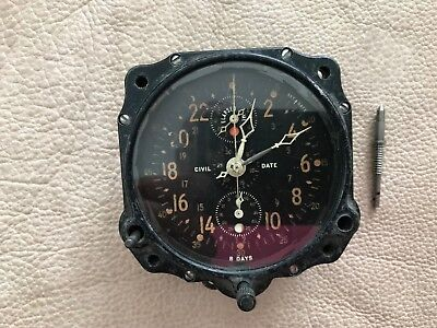 Le Coltre LeCoultre Aircraft Airplane Clock Chronograph A10 Working