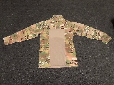 ARMY COMBAT SHIRT OCP MULTICAM MASSIF CRYE Small 1/4 Zip Flame resistant FROG