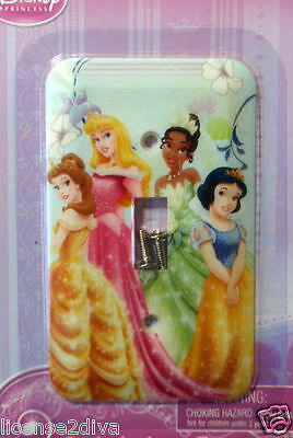 Disney Princess Switch Plate Home Decor Belle Snow White & More Girls Room