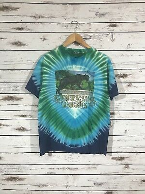 Grateful Dead Rainforest Tie Dye Shirt Panther 1989 Mikio Size Large