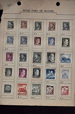 Adolph Hitler Nazi Germany Third Reich Issues Used hinge stamps