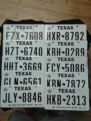 """texas license plates """"The Lone Star State"""" one plate at random"""