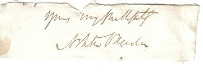 Ashton Oxenden - Bishop of Montreal, Canada - signed end of original letter