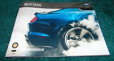 2019 FORD MUSTANG New Dealer Brochure (40 pages) GT 5.0 Ecoboost NO RESERVE