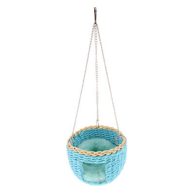 Parrot Toy Swing Basket Parakeet Basket Cage Hanging Toy for Cockatiels