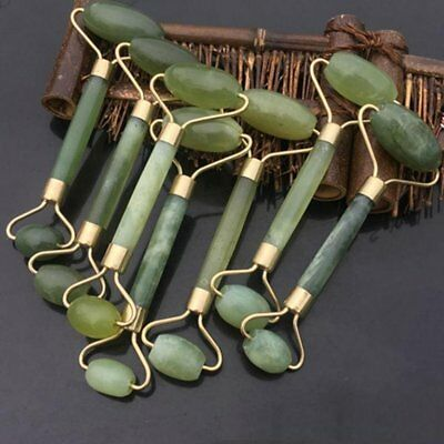 Natural Jade Stone Face Massager Roller Spa Head Neck Body Facial Beauty Tool