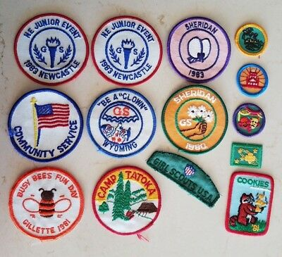 Girl Scout Lot of 14 Patches