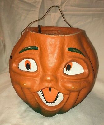 Jack-O-Lantern Paper Pulp LIGHTS UP, Seasons Gone By DBH, comes w/tag