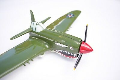 P40 Warhawk WWII Fighter Airplane 3D Wall Decor Pilots Boys Bedroom Office