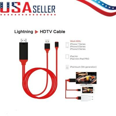 1080p 8Pin Lightning to HDMI HDTV AV TV Adapter Cable Cord For iPhone 5/6/7/8