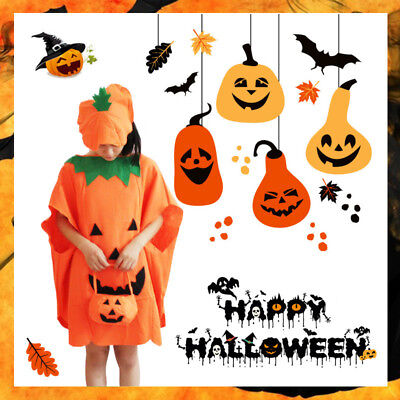 Funny Cosplay Halloween Unisex Kids Adult Pumpkin Suit Style Clothes Costumes