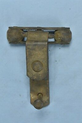 Antique BARN DOOR TROLLEY CAST IRON ROLLERS & HINGE HARDWARE #05959