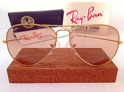 7b9f018578 B L RAY BAN USA AVIATOR CHANGEABLE BROWN 58mm BAUSCH   LOMB VTG NEW OLD  STOCK