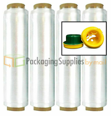 "Advanced Pre-Stretch Pallet Wrap Film 15"" x 1500' x 28 Ga 240 Rolls + Hand Saver"
