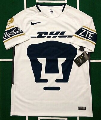 big sale 43f00 2ef78 NIKE PUMAS UNAM Local/home Jersey 2017/18 Short Sleeves Authentic  847312-101 Nwt