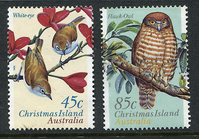 1996 Christmas Island.  Land Birds.  Full set of 2 USED.  SG 428/429.  CV £2.50.