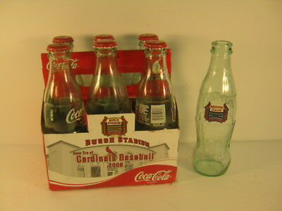 St Louis Cardinals 2006 Inaugural Season Busch Stadium Coca-Cola bottles 6 pack
