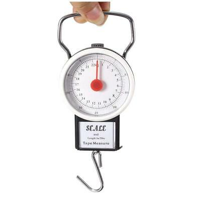 Portable Luggage Weight Hook Scale Hanging Suitcase 22kg 50lb Travel Kitchen