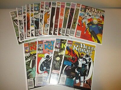 Marc Spector Moon Knight #21-39 (Complete lot of 19) From the 1989 1-60 series
