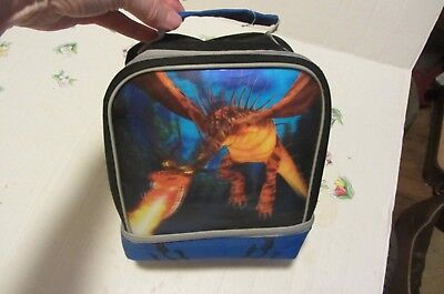 How To Train Your Dragon Canvas Lunchbox / Bag Good Used Condition