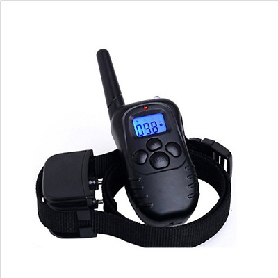 LCD Electric Shock  Remote Control Dog Training Anti-Bark Stop Barking