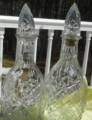 Vintage Cut Glass/Crystal Wine/Liquor Decanter With Stopper pair vintage 1967