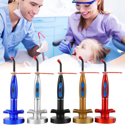 Dental 5W Wireless Cordless LED Curing Light Lamp Machine 2000MW US/EU Silver D