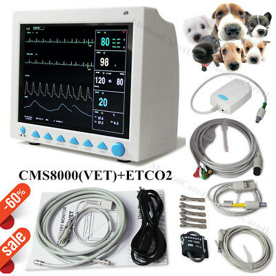 Veterinary Capnograph Patient Monitor ETCO2 VET CO2 Vital Signs Animal Monitor