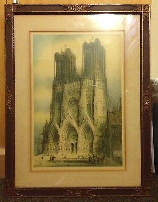 Antique Medieval Cathedral Picture Frame