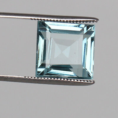 Natural 22.30 Ct Square Cut Certified Aquamarine Greenish Blue Color Loose Gem