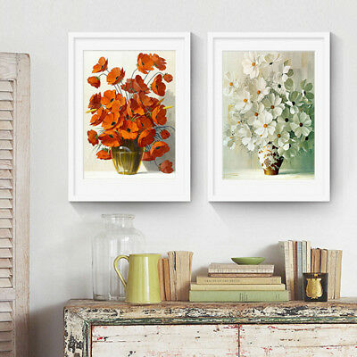 Modern Unframed Flower Art Canvas Print Home Wall Picture Poster Paintings Decor