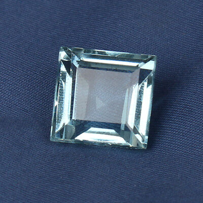 Natural 19.45 Ct Square Cut Certified Aquamarine Greenish Blue Color Loose Gem