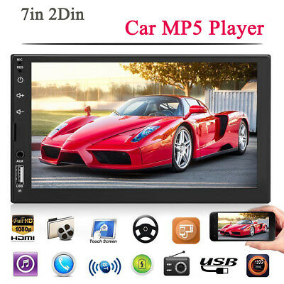 7in Double DIN Car Stereo MP5 Player FM Radio Head Unit with Camera w/ Remote