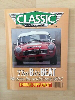 Classic And Sportscar Magazine December 1989 ..the B To Beat ..mgb