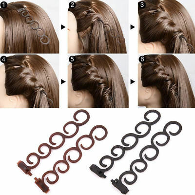 6740 2pcs Hairpin Hairwraps  Tool Roller Hair Twist Accessories Women Elastic