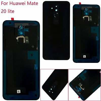Replace For Huawei Mate 20 lite Back Battery Cover Fingerprint Glass Case Black