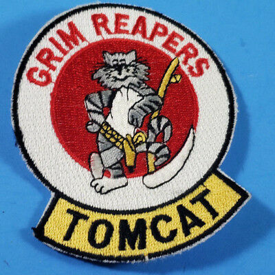 Vf-101 Grim Reapers Unused Patch U.s. Navy Fighter Squadron F-14 Tomcat H