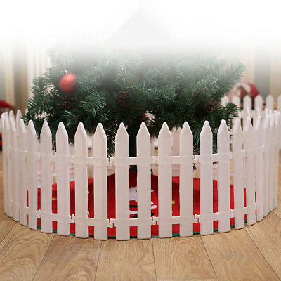 1PC Christmas Tree Fence Decor Miniature Garden Xmas DecorationBIN