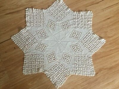 Large hand crocheted doiley