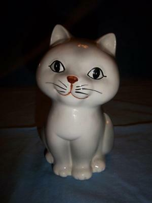 1980 Otagiri Grey Cat/Kitten Still Bank 6 1/2""