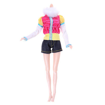 2Pcs/Set handmade doll coat shorts doll casual wear clothes for 1/6dollGG
