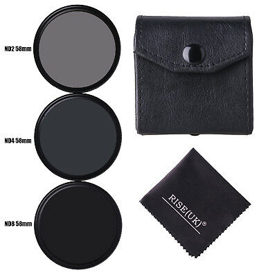 58MM Neutral Density ND2 + ND4 + ND8 Filter Set For Nikon Canon Pentax Fuji